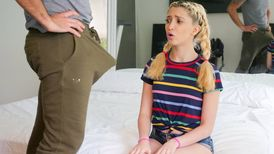 Cute blonde Jane Wilde eaten out by her stepfather